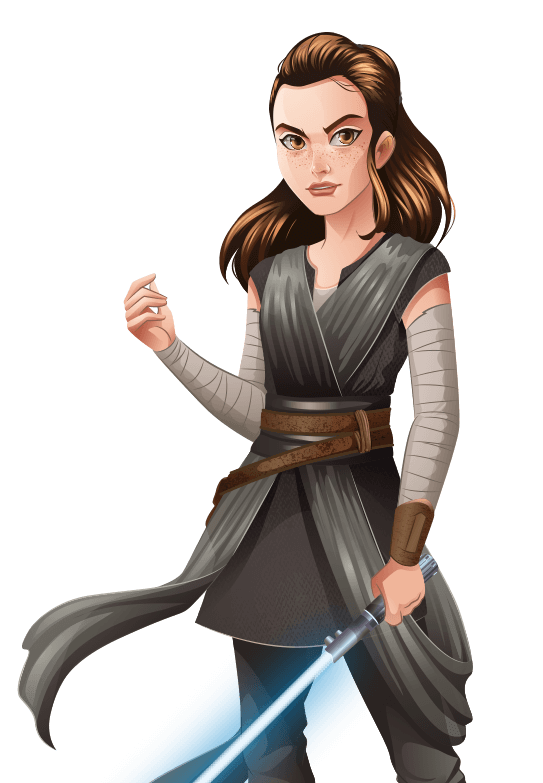 Star wars rey png. Forces of destiny animated