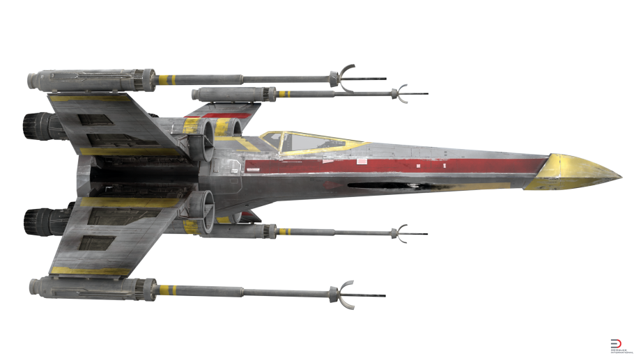 X wing fighter png. Star wars starfighter yellow