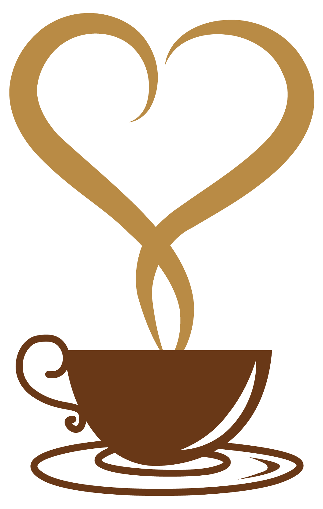 coffee cup clipart heart