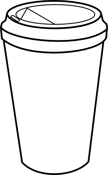 coffee cup clipart outline