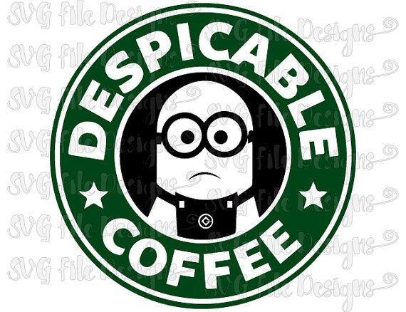 Starbucks clipart svg. Minion despicable me coffee