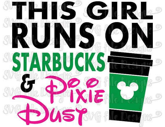 Starbucks clipart svg. This girl runs on