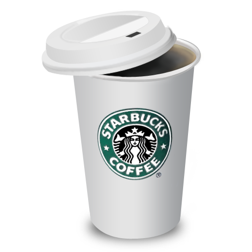 Starbucks coffee cup png. By benedik lid icon