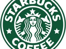 Starbucks vector flyer. Brands clipart psd page