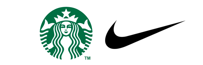 Starbucks vector flyer. Famous companies who