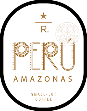 Starbucks vector flyer. Peru amazonas reserve graphic
