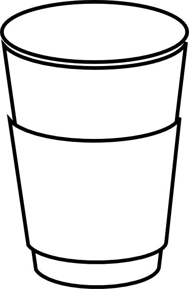 Starbucks vector line drawing. Coffee cup clipart