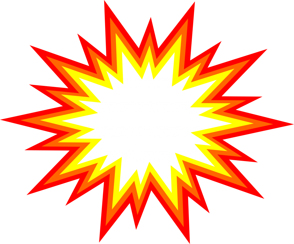 Starburst clipart explotion. Explosion comic vector
