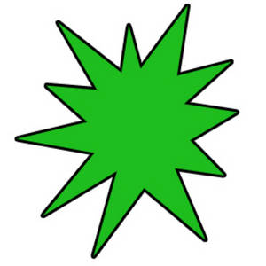 Starburst green shape