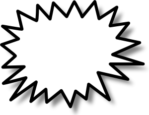 Starburst drawing stencil. Template encode clipart to