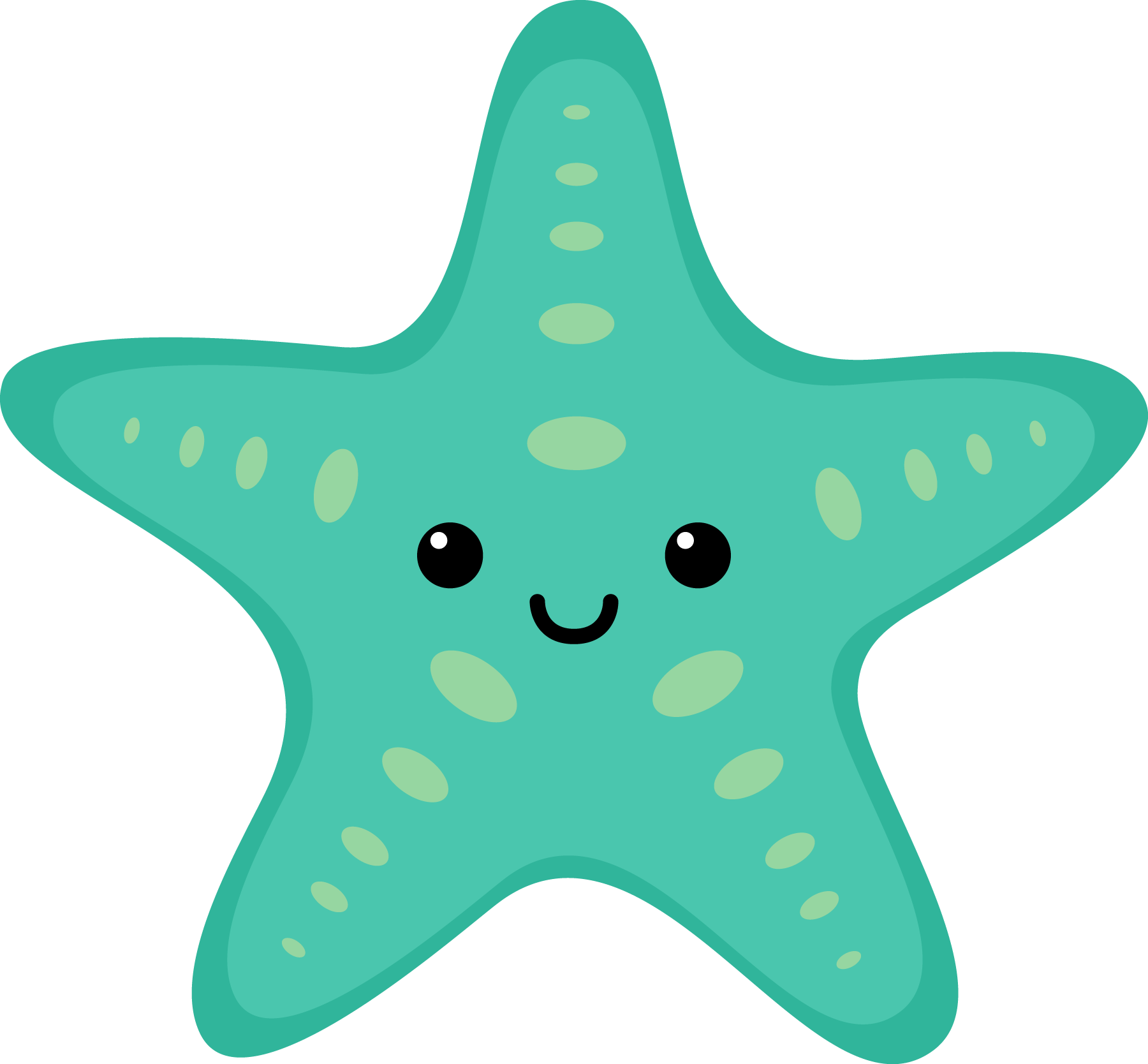 Starfish clipart star shaped object. Sea turquoise toppers pinterest