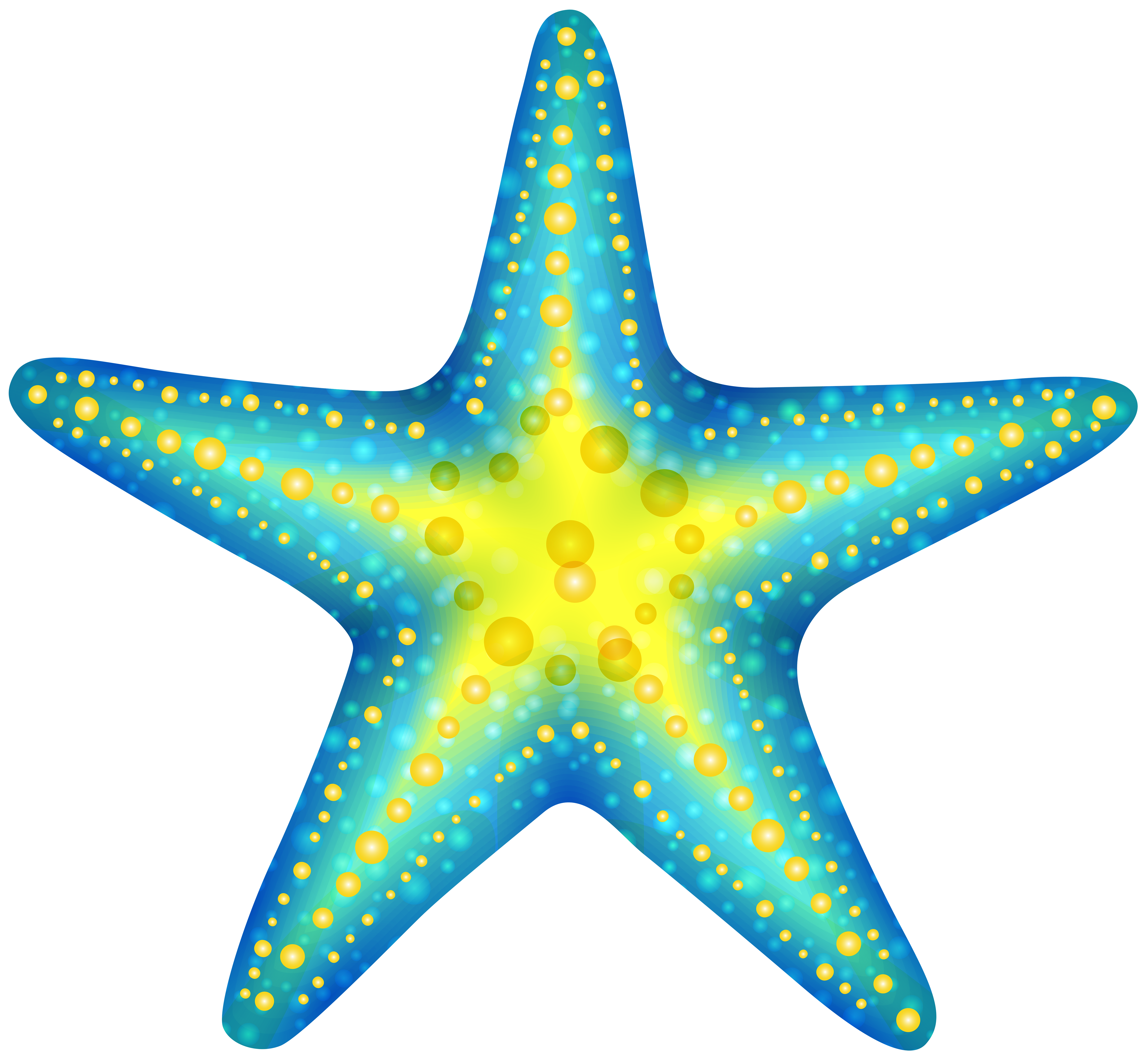 Blue png clip art. 3 clipart starfish svg black and white