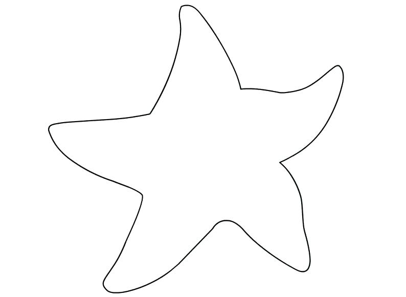 Starfish clipart printable. Outline children coloring shapes