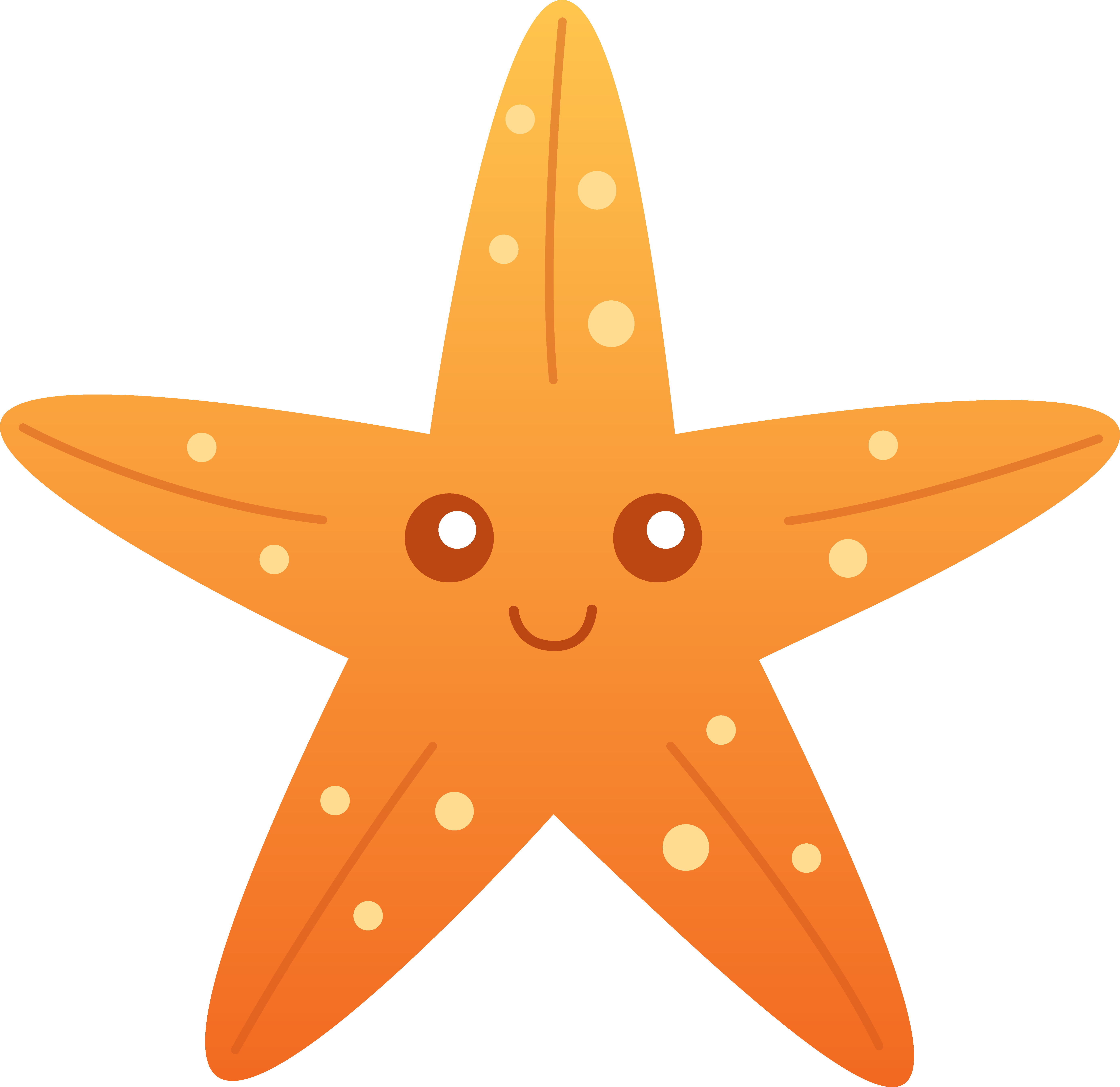 Starfish clipart simple cartoon. Clip art orange pre