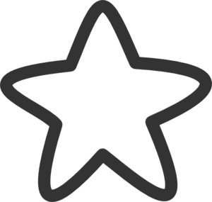 Starfish clipart star shaped object. Black and white free