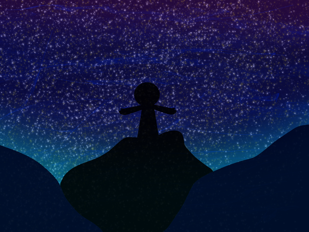 Starry sky png. The by ruby q