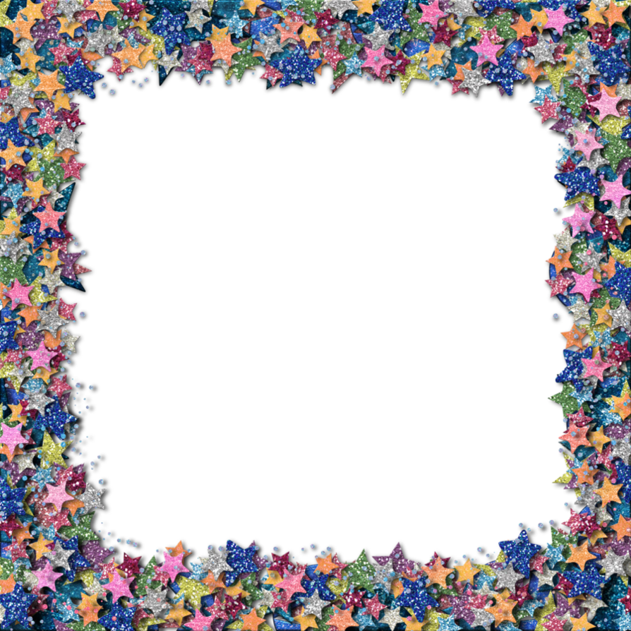 Stars border png. Glitter star by hggraphicdesigns