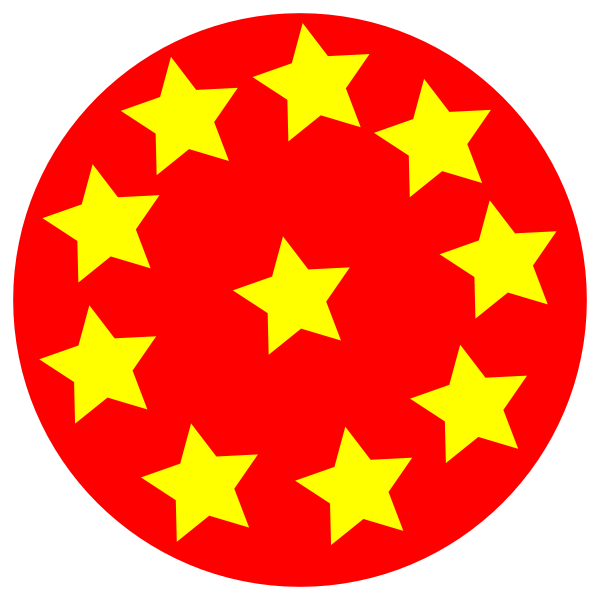 Stars circle png. Red with clip art