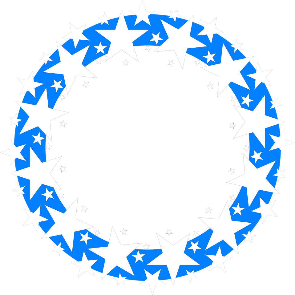 Stars circle png. Border blue free stock