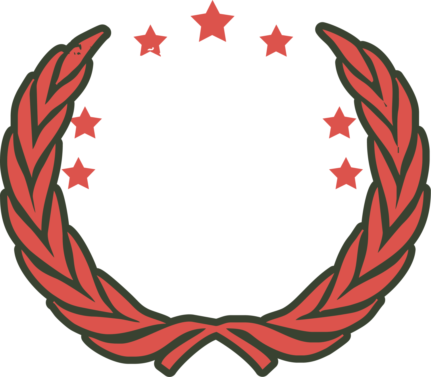 Stars circle png. Red clip art wings