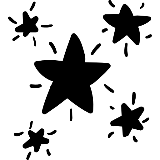 Stars doodle png. Starry free signs icons
