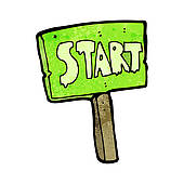 Sign . Start clipart clipart black and white