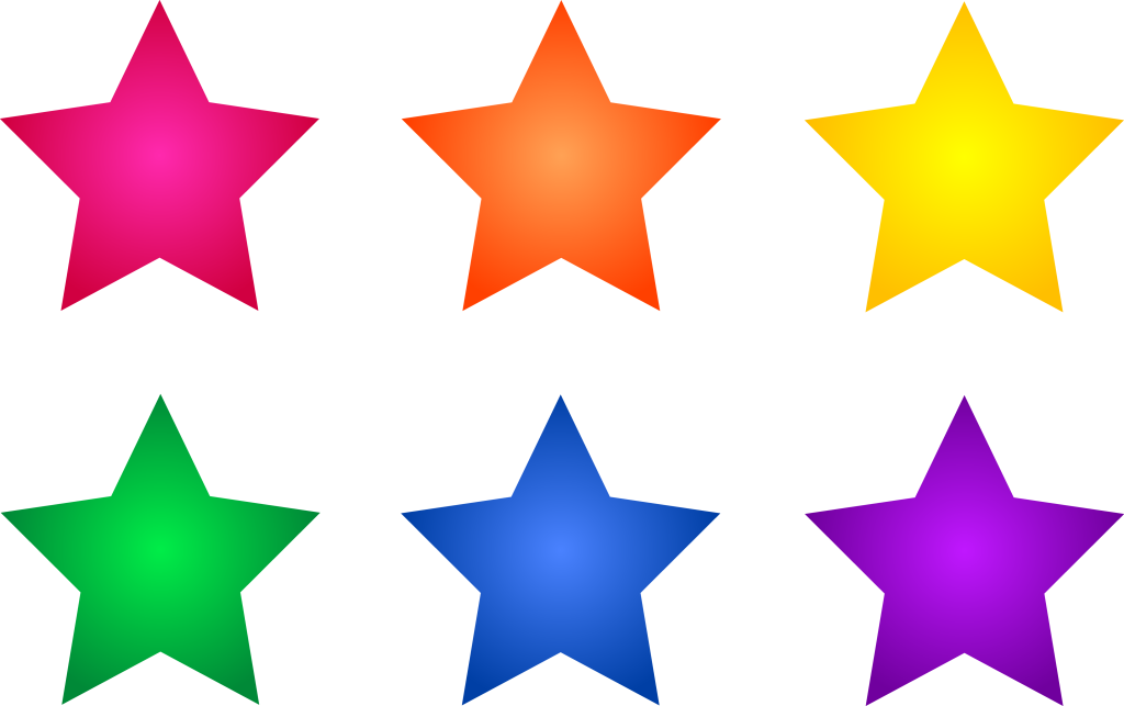 Start clipart colour star. Glittering particles of universe