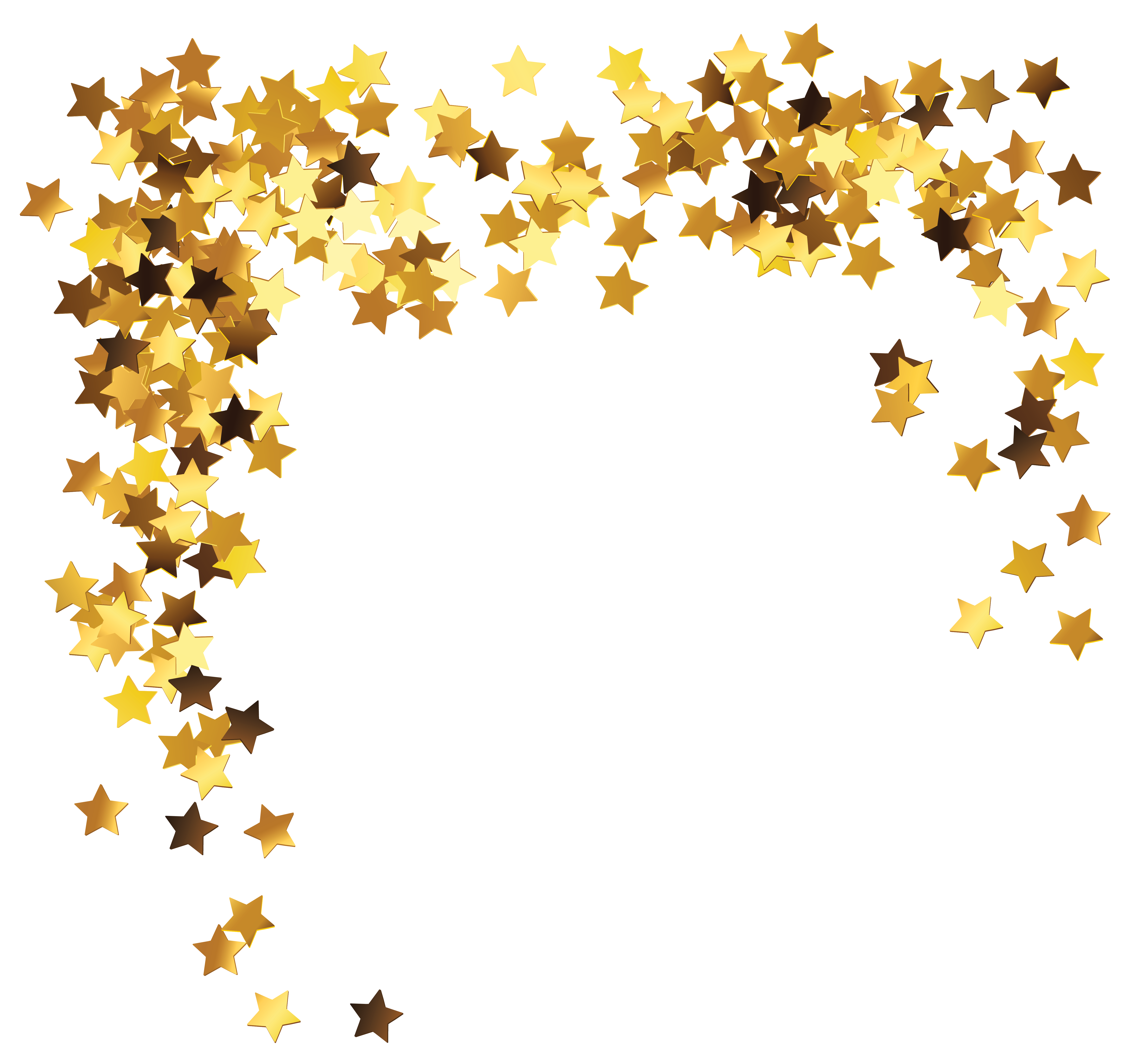 Start clipart decoration. Gold stars png picture