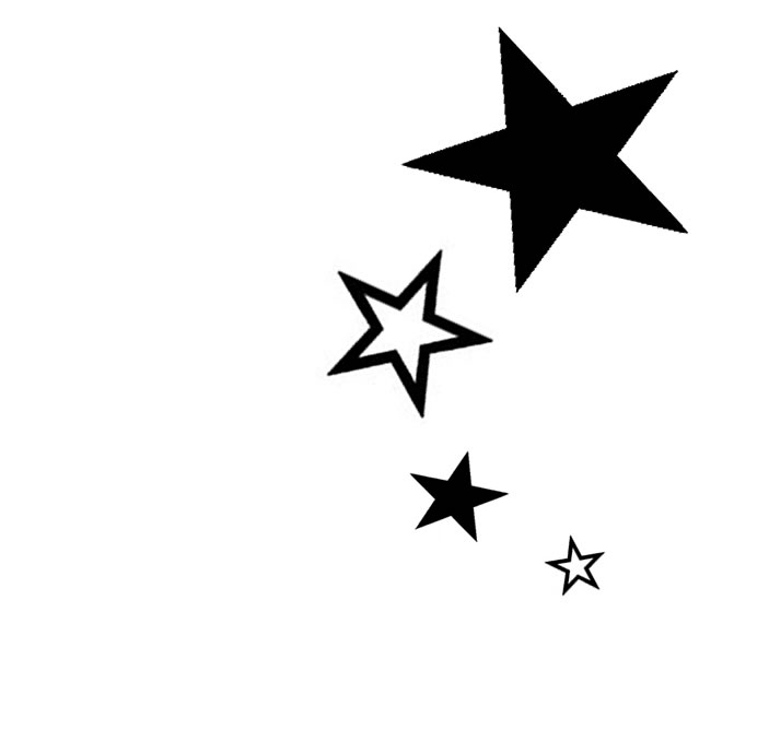 Start clipart silhouette. Outline and black star