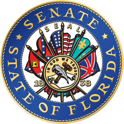 State of florida seal png. Panel backs removing confederate