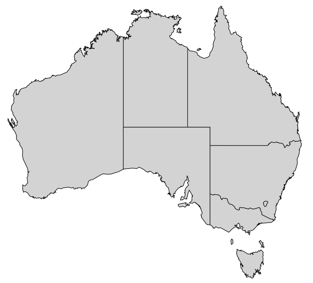 Australia transparent unlabeled. File map states svg