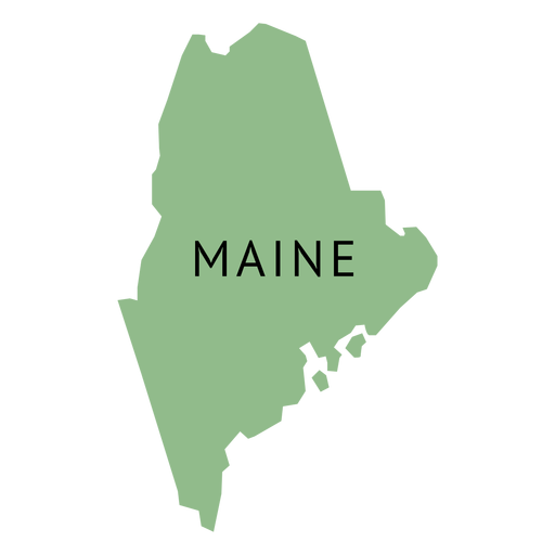 Maine vector svg. State plain map transparent