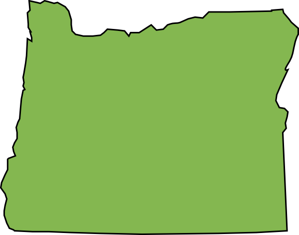 Svg events outline. Oregon state map in