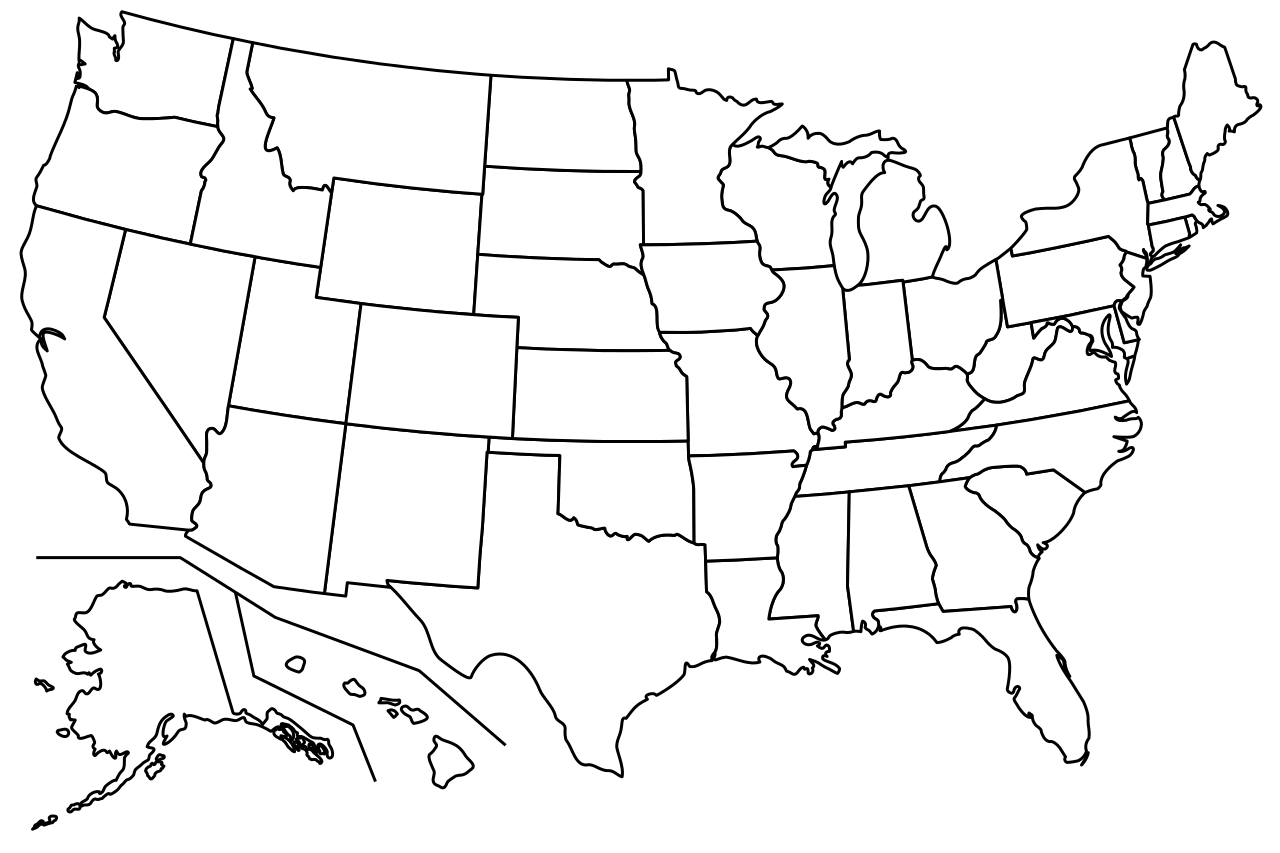 State svg printable. File blank us map
