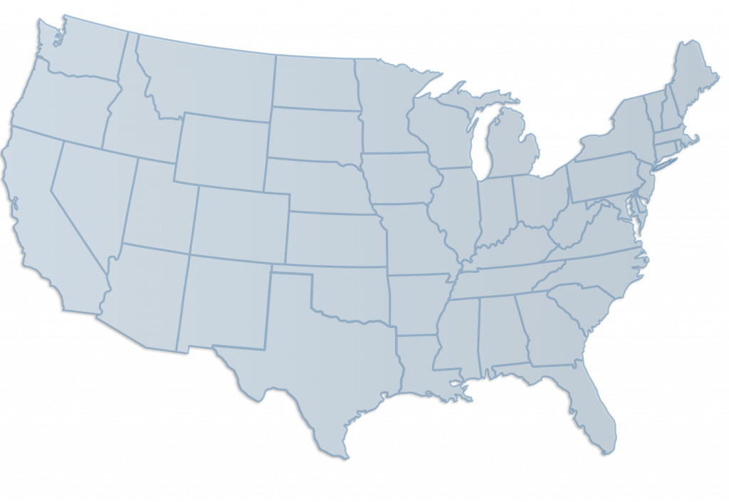 Us vector gray. Map of united states
