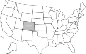 States vector state us. United map with colorado