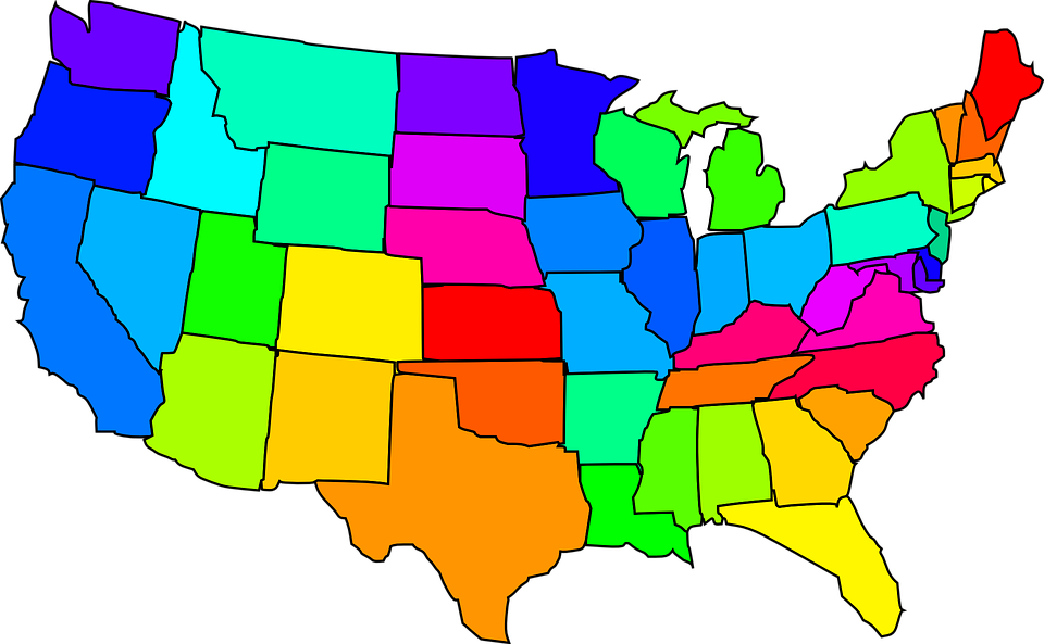Us vector nation. Clipart map united states
