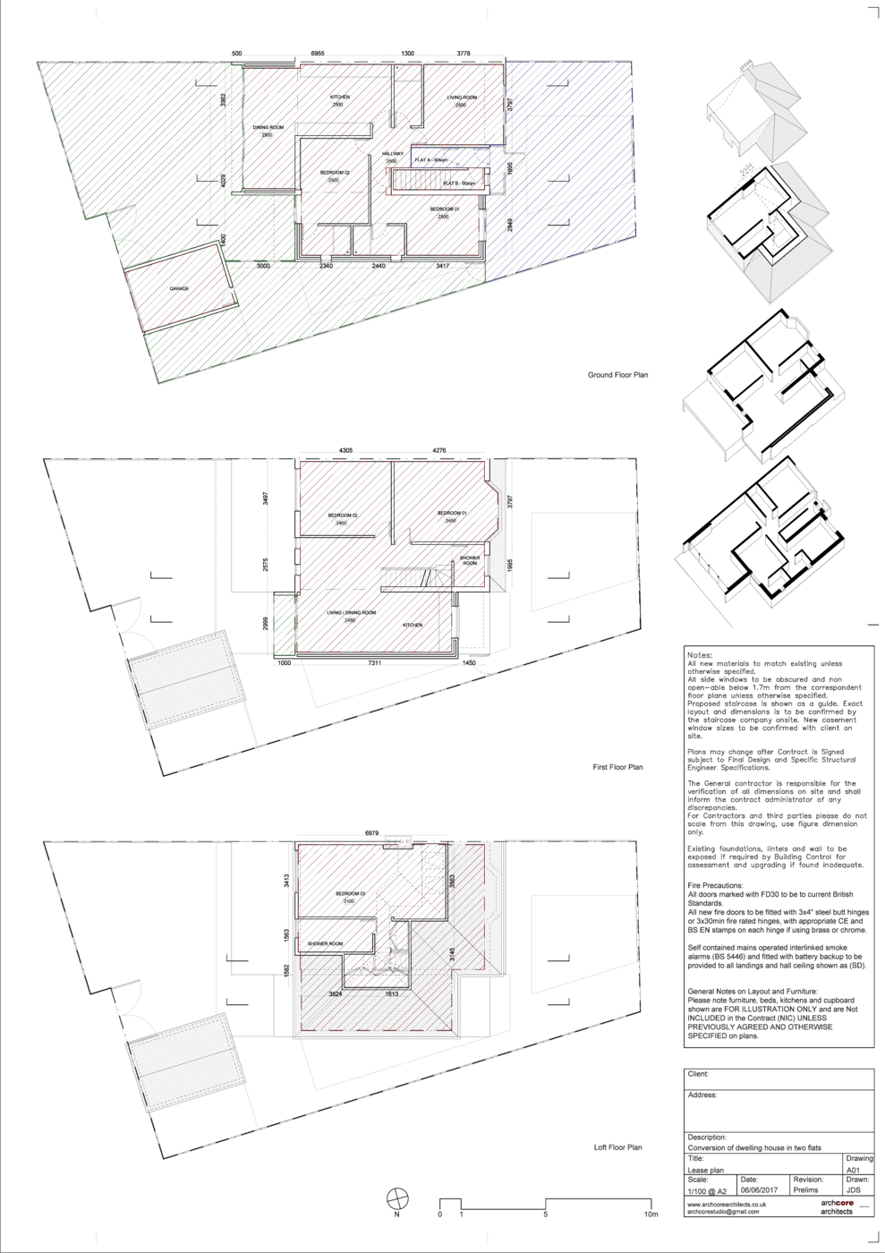 Static drawing architectural. Archcore architects lease plans