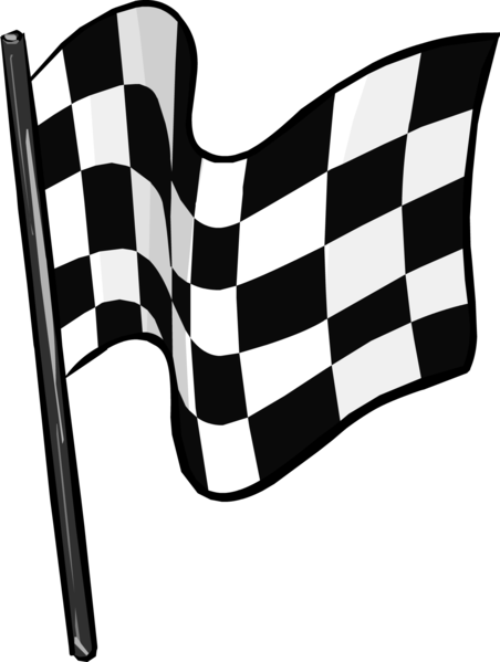 Static drawing checkered. Image flag clothing icon