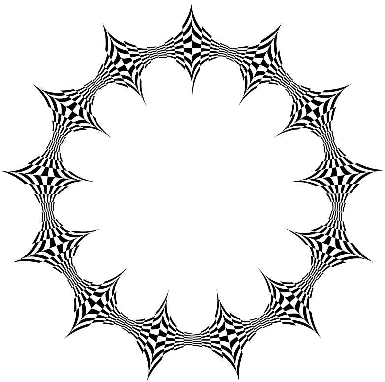 Checkered drawing design circle. Download free png stylized