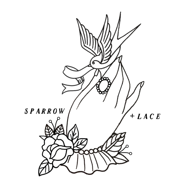 Static drawing couple. Couples sparrow lace