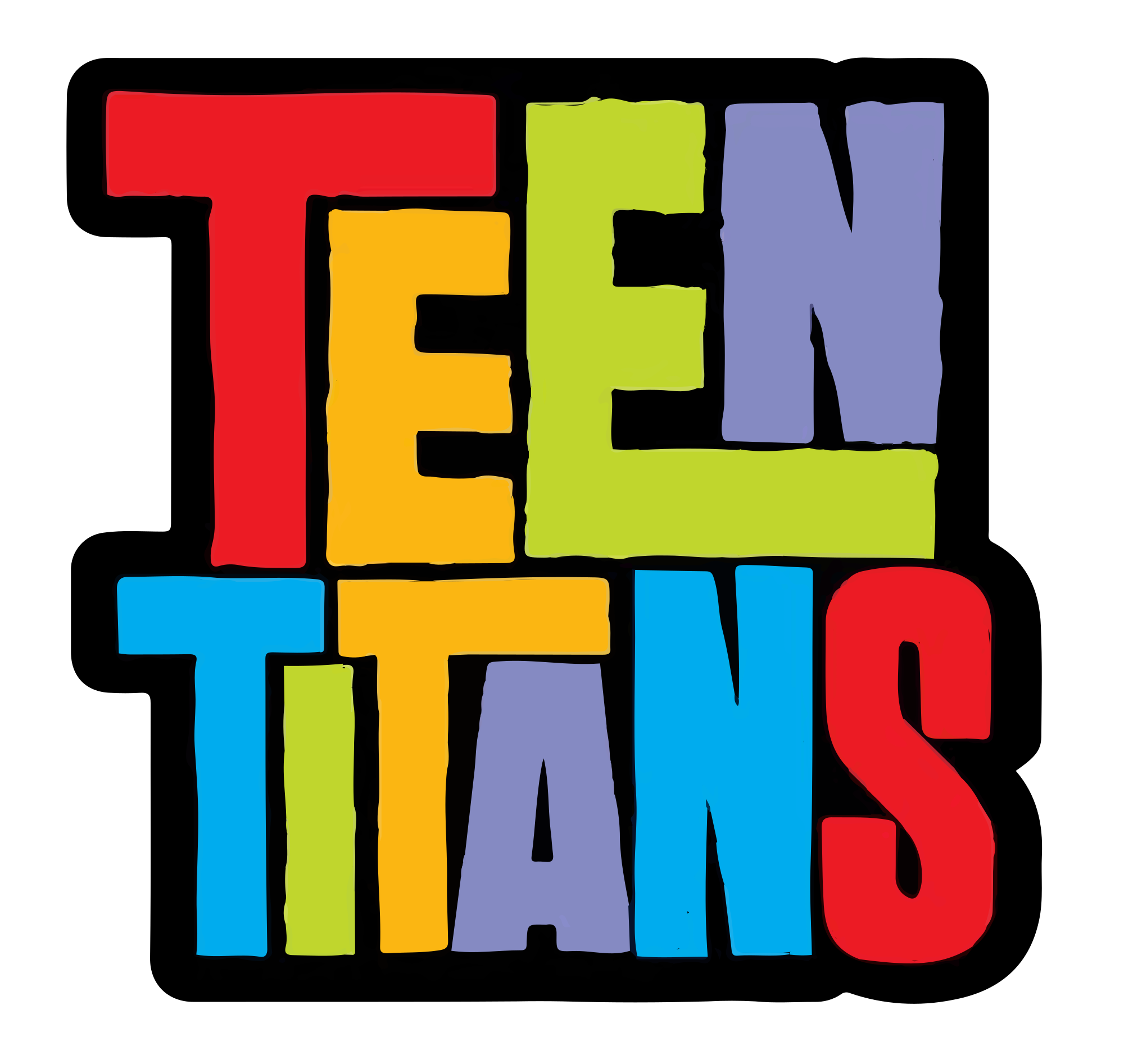 Static drawing old tv. Teen titans series wikipedia