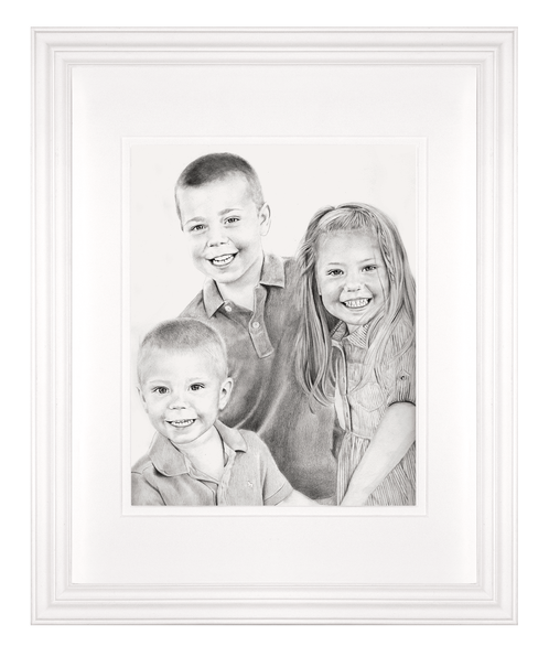 Static drawing portrait. Frame your add a