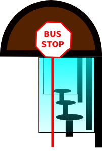 Stop clipart cartoon. Bus panda free images