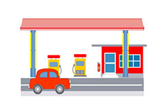 station clipart gas station