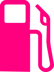 Station clipart gas station. Pump hot pink clip
