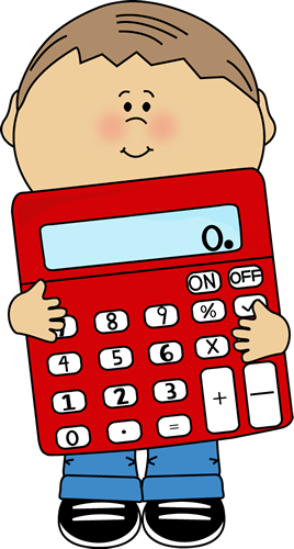 Station clipart math area. Kids kid holding calculator