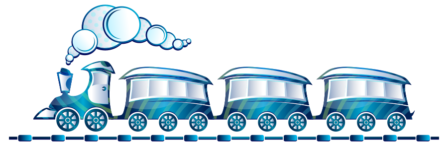 Vector trains road. Train station clipart clip