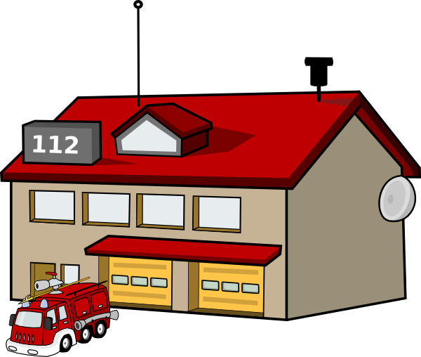 Fire station clip art. Department clipart clip library