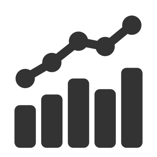 Free icon download growth. Statistics vector clip art transparent download